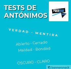 tests de antónimos
