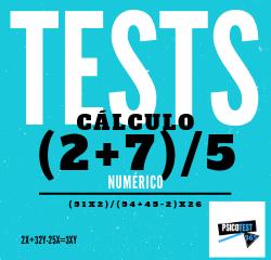 tests de cálculo numérico