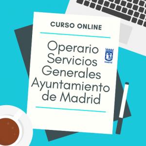 curso online operario servicios generales ayuntamiento de madrid