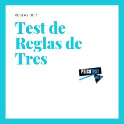 tests de reglas de tres