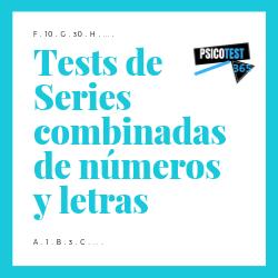 tests de series combinadas de números y letras