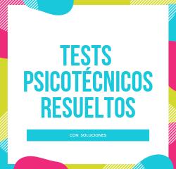 tests psicotécnicos resueltos