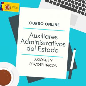 curso online auxiliares administrativos del estado