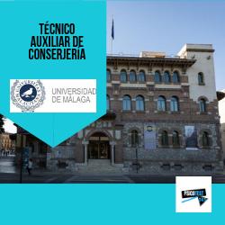 Técnico Auxiliar de Conserjería de la Universidad de Málaga