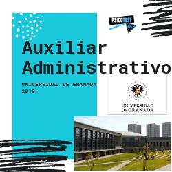 auxiliar administrativo universidad de granada 2019