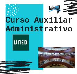 curso auxiliar administrativo uned