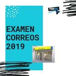 examen de correos 2019