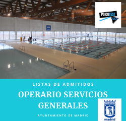 Listas de Admitidos de Operarios de Servicios Generales