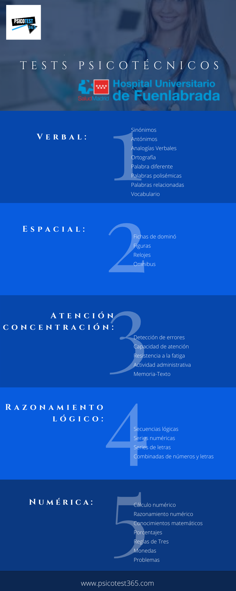 infografía psicotécnicos hospital fuenlabrada