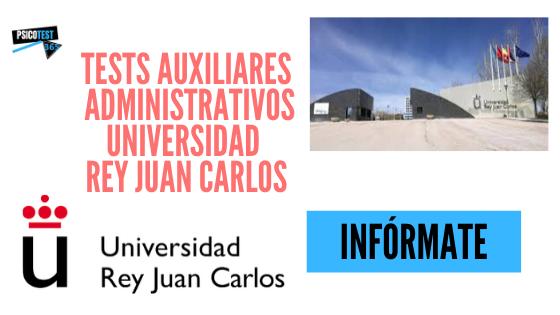 tests auxiliares administrativos URJC