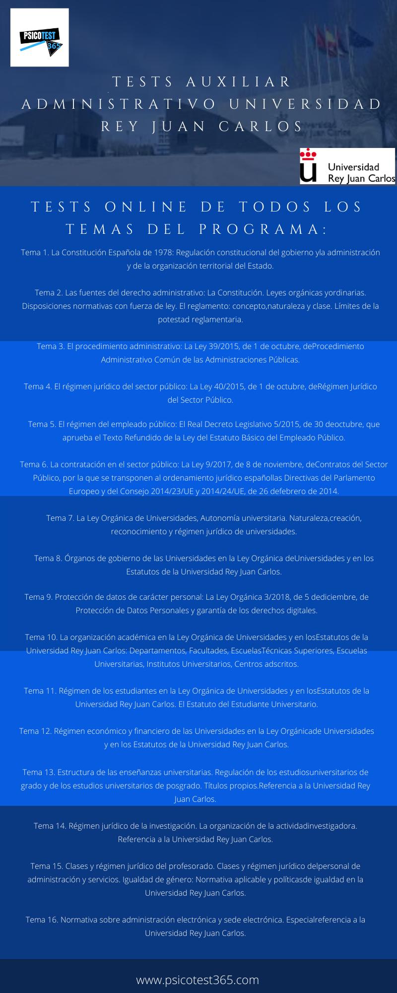 infografía auxiliar administrativo URJC