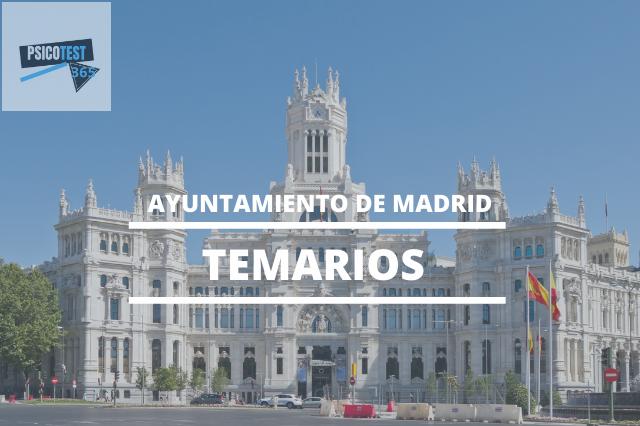 temarios ayuntamiento de madrid
