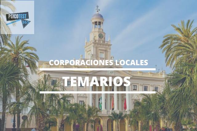 temarios corporaciones locales