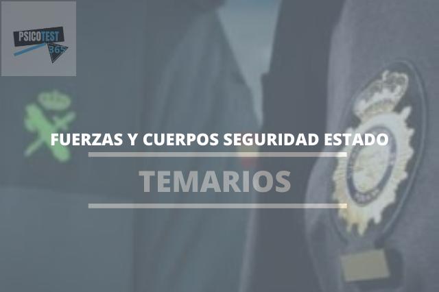 temarios fuerzas y cuerpos seguridad del estado