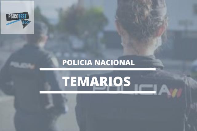 temarios policia nacional