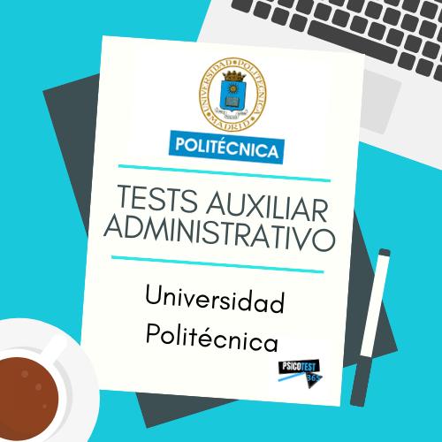 tests auxiliares administrativos universidad politécnica