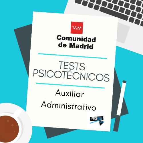 tests psicotécnicos auxiliar administrativo comunidad de madrid