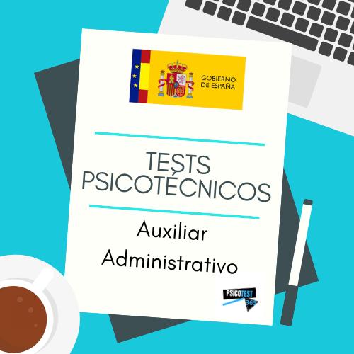 tests psicotécnicos auxiliar administrativo estado